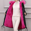 Parkas For Girls Winter 2016 Army Green Parka Coat With Fur Hood Ladies Korean Winter Jacket