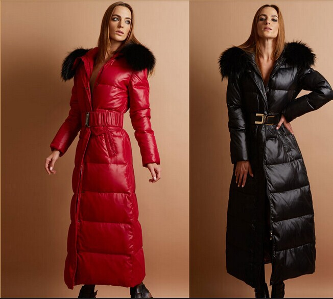 B home Fashion High-end Luxury Large Fur Collar Down Jacket Women Long Thick Ultra Slim Down Coat Female ParkaОдежда и ак�е��уары<br><br><br>Aliexpress