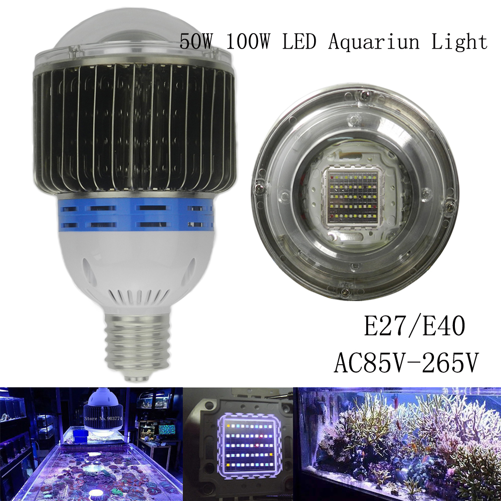 1piece e27 e40 50w 100w bridgelux led aquarium lighting led growing lamp coral reef grow light. Black Bedroom Furniture Sets. Home Design Ideas