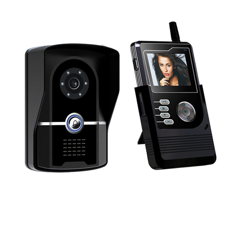 Mini wireless video door phone intercom door camera for Door video camera