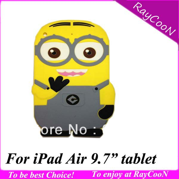 10pcs/lot for iPad Air 3D Cartoon Despicable Me Soft back case,Cute stylish silicon cover for ipad air 9.7 tablet,mix color<br><br>Aliexpress