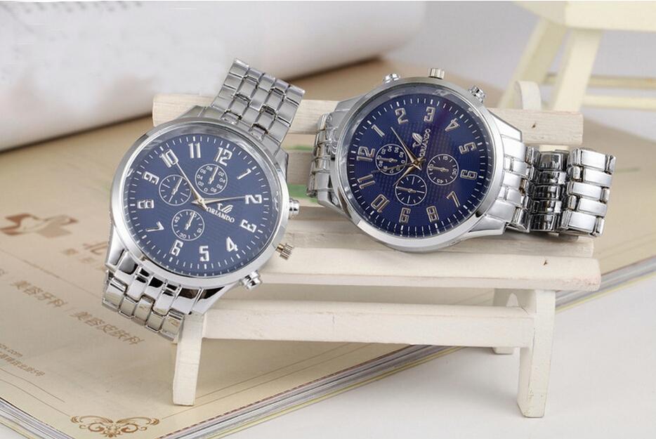 Factory wholesale quartz watches mechanical watches Mens watch three six needle s eye