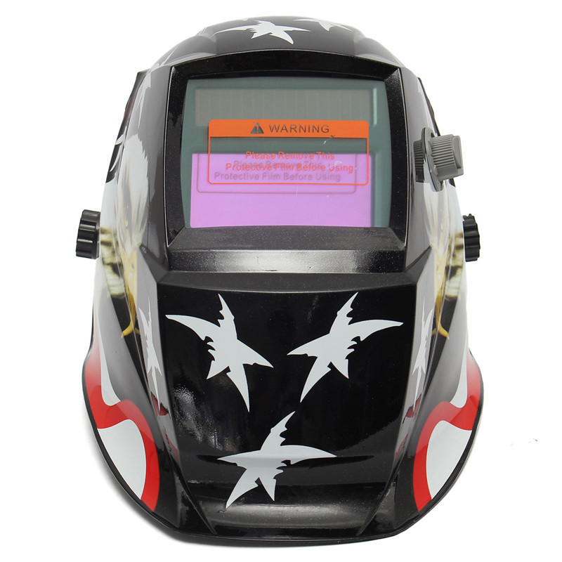 Best Price New Arrival Top Selling Stars+Eagle Black Solar For Welder Mask Helmet Auto Darkening Welding Helmet(China (Mainland))