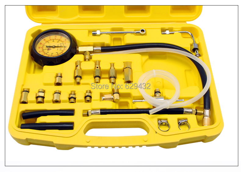 free shipping Fuel pressure gauge/Injection pressure gauge/oil pressure gauge/ Vehicle detection instrument