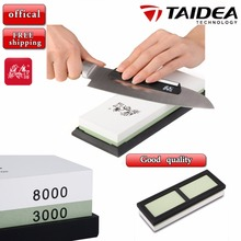 GRINDER T0914W 3000/8000 # Grit Combination Corundum Whetstone Knife Sharpening Stone / Double Two-Sided(China (Mainland))