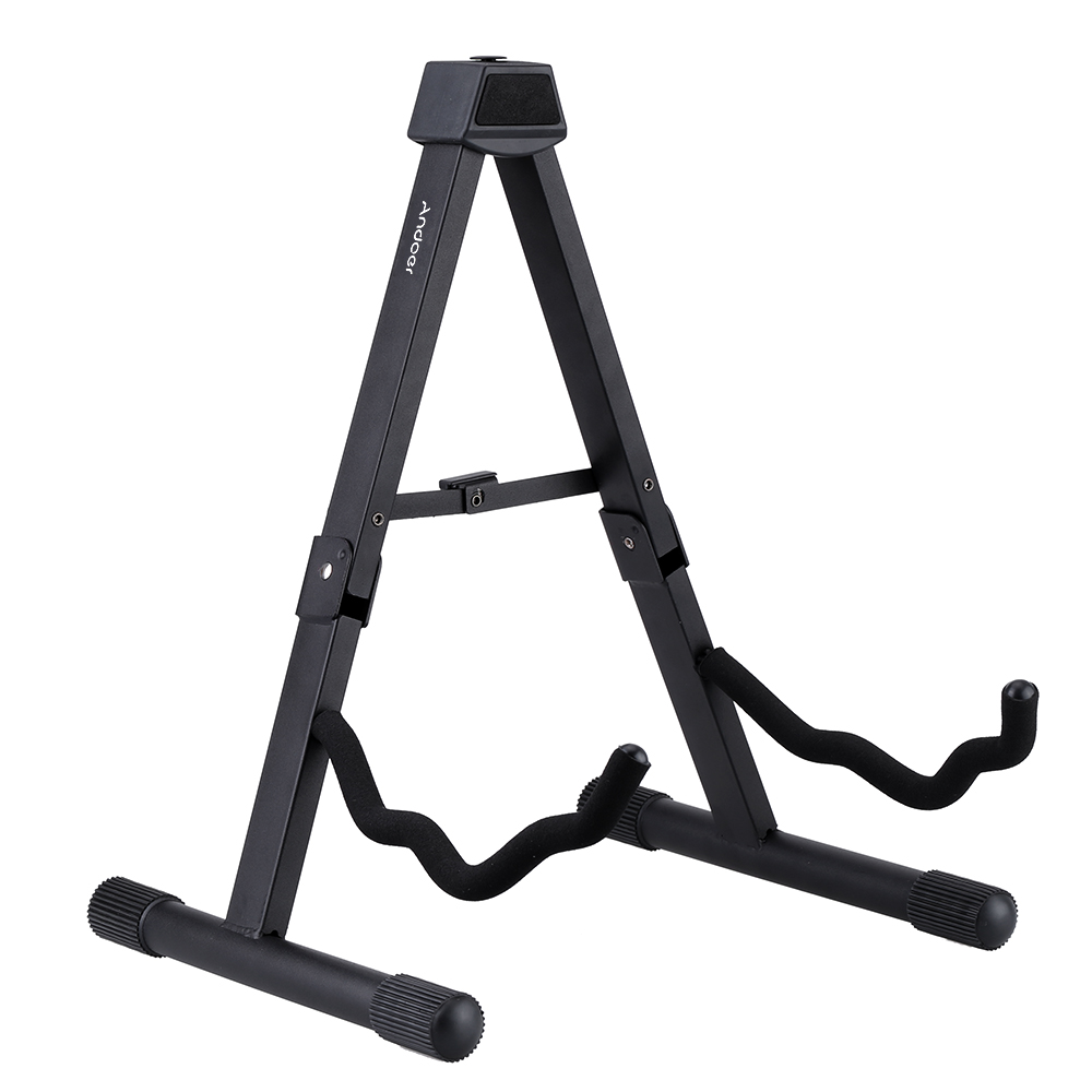 Andoer GS-SP1 Foldable Guitar Stand A-Frame Stand for Acoustic Electric Guitar Bass High quality Guitar Parts(China (Mainland))