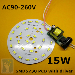 10sets/lot, 15W LED PCB with SMD 5630 5730 LEDs installed and driver set, Light Board Led Lamp Panel <br><br>Aliexpress