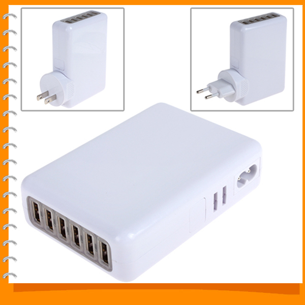 5V 4A 6 Port USB Wall Charger Adapter AC Power Home Travel Wall Charger for iPhone iPad HTC Samsung ( EU UK AU US Plug Optional)(China (Mainland))