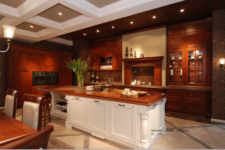 fancy classic wooden kitchen cabinet(LH-SW063)(China (Mainland))