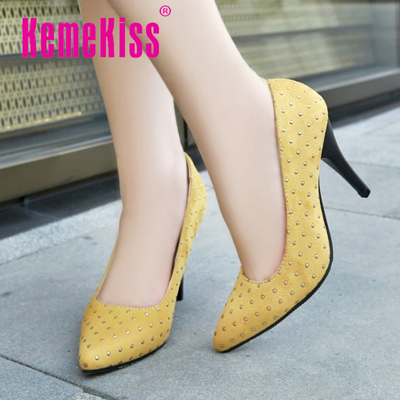 women red bottom plus size 28-50 high heel shoes pointed toe ladies quality footwear fashion heeled pumps heels shoes P18901<br><br>Aliexpress