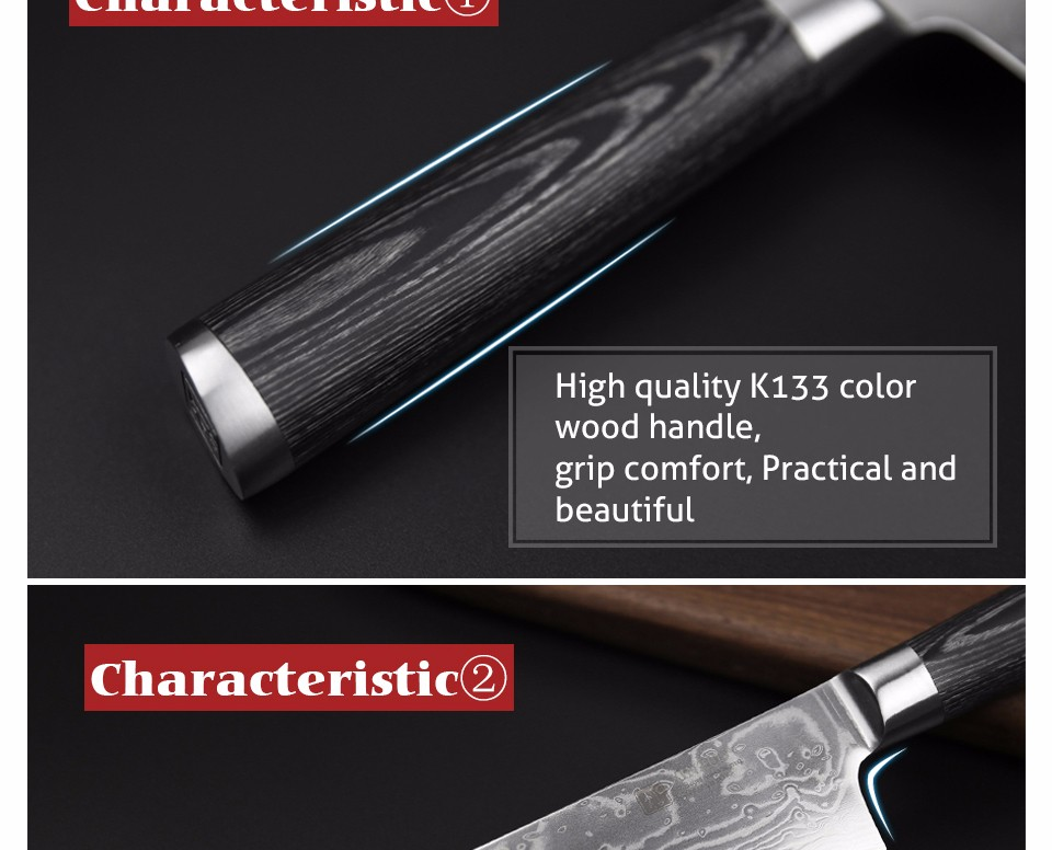 "Buy XINZUO 8"" inch High quality chef knife China 67 layer Damascus stainless steel kitchen knife pakka wood handle free shipping cheap"