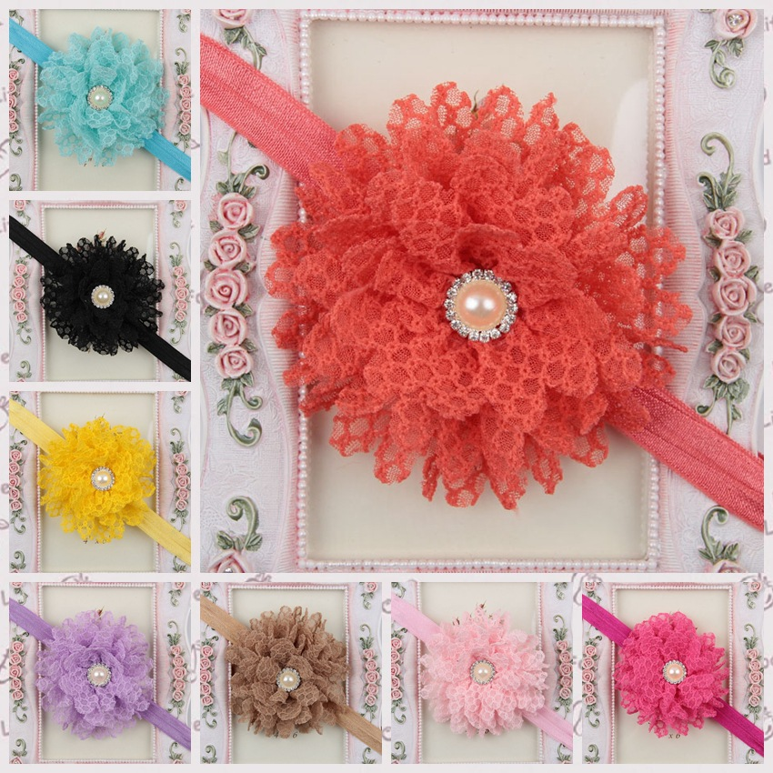 Wholesale lace fabric flower pearls rhinestone elastic for Wholesale baby fabric