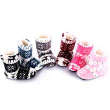 Mini melissa niños zapatillas botas de casa zapatillas de casa zapatos soft Cotton Warm zapatillas de fondos blandos para los niños chausson enfant(China (Mainland))