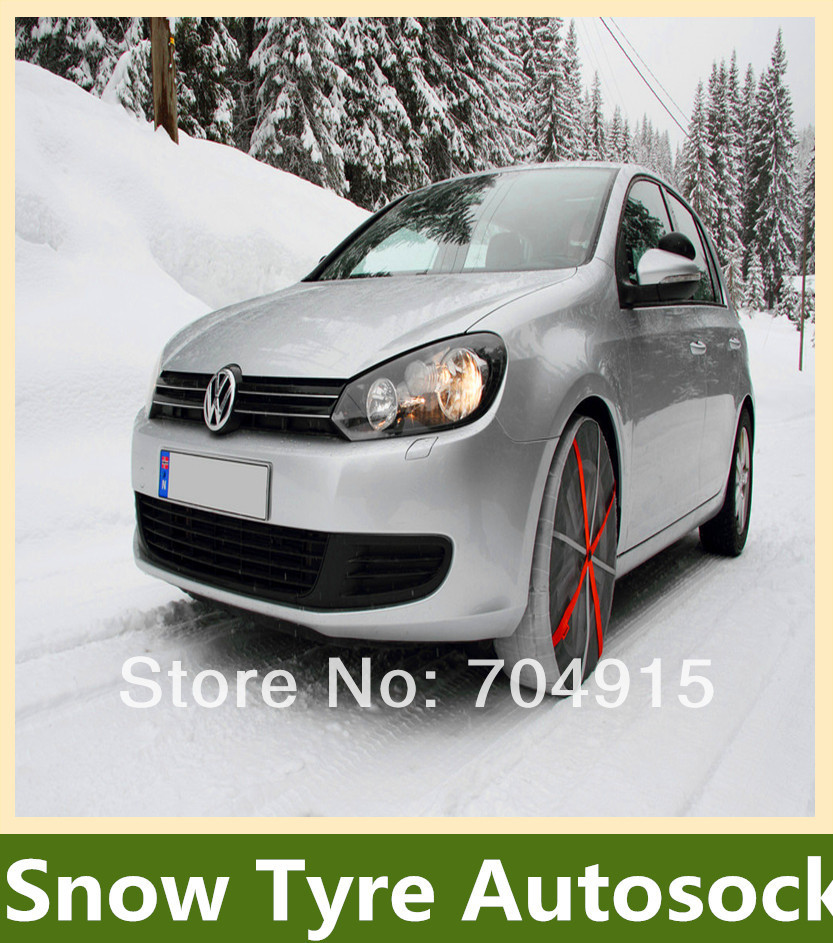 snow chain autosock fo cars free shipping by express KB81(China (Mainland))