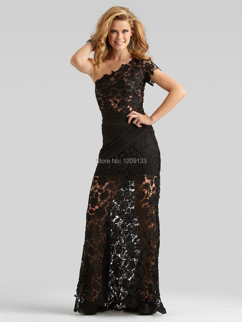 Vestido де феста лонго пром платья элегантный верхний кружево одно плечо короткий рукав минимальный уровень длина вечернее платье