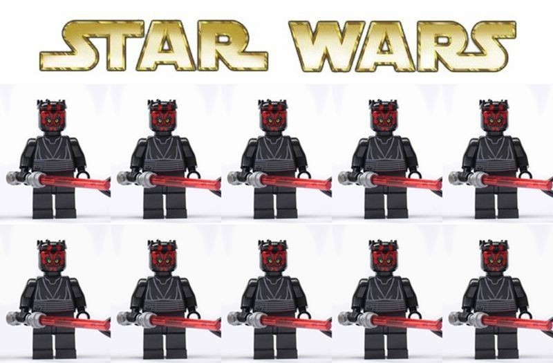 40pcs Star Wars minifigures C-3po Droid Chebacca with cross bow & Darth Maul Vader with cape Imperial Guards Shirtless Promo(China (Mainland))