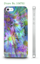 Mobile Phone Case Retail 1pc flowers Protective White Hard Case For Iphone4 4S Free Shipping
