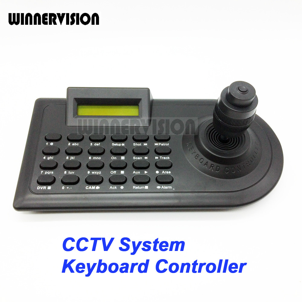 4 Axis 4KD Joystick CCTV Keyboard Controllers for Analog AHD PTZ Speed Dome Camera Support Pelco-D Pelco P protocol via RS485(China (Mainland))