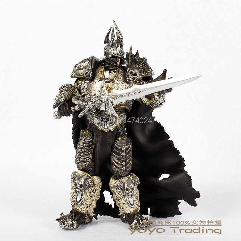 Фигурка героя мультфильма World of warcraft Figure Arthas 7/wow Warcraft Arthas Menethil Collection world of wow arthas menethil lich king deluxe action figure statue nib