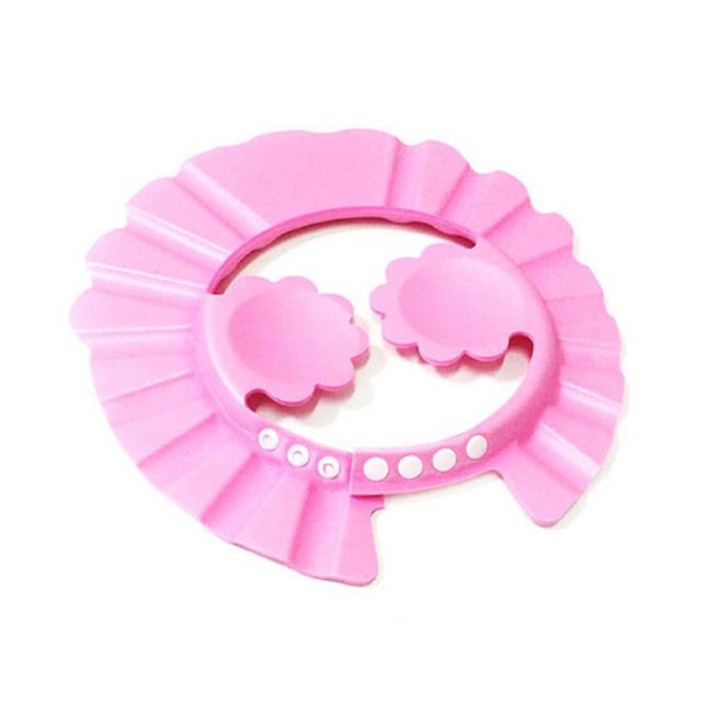 Настроить шапочка для душа дети шампунь шляпа с уха футляр розовый солнце защиты ...