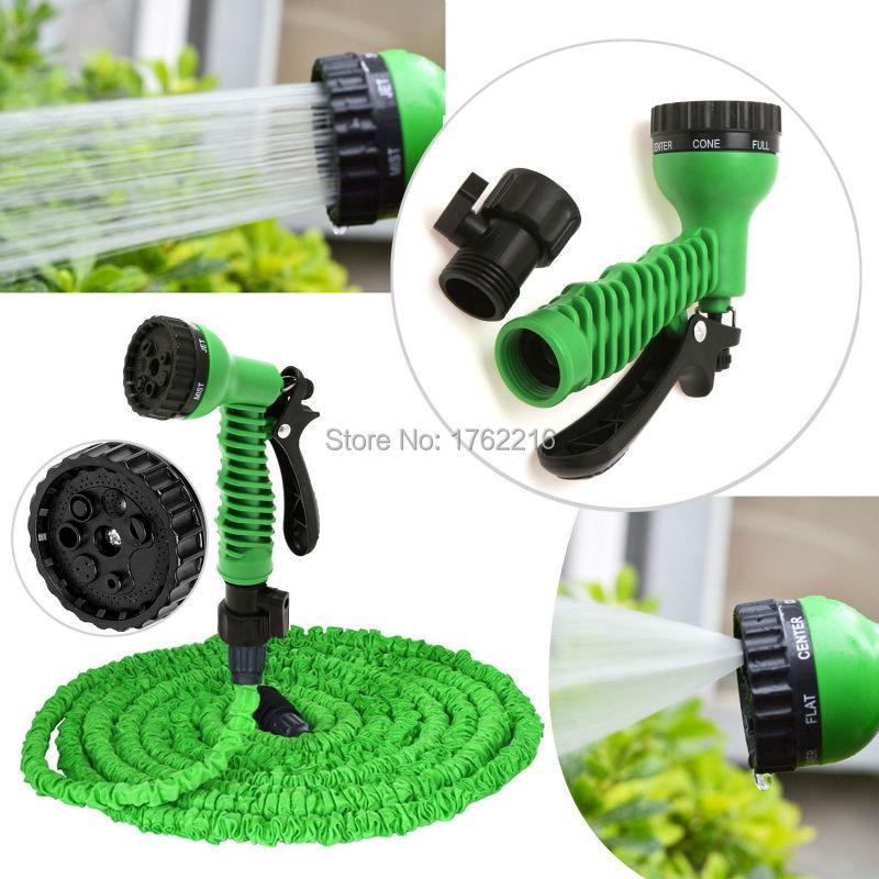 Garden Necessary75FT Plastic Expandable irrigation water Flexible Garden Water Hose+Spray Nozzle Gun Magic Hose Water Pipe EU