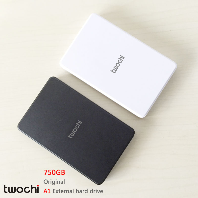 Free shipping 2016 New Style 2.5 inch Twochi A1 USB2.0 HDD 750GB Slim External hard drive Portable Storage disk wholesale Price(China (Mainland))