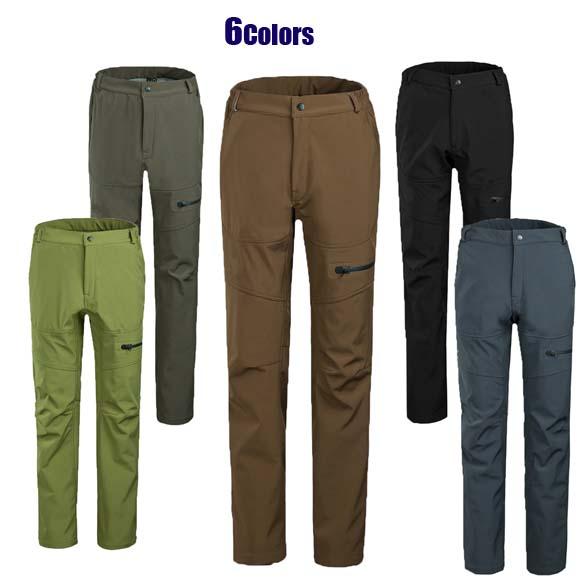 New man Autumn&Winter windstopper skiing pant male outdoor trousers fleece hiking warm waterproof free shipping outwear L