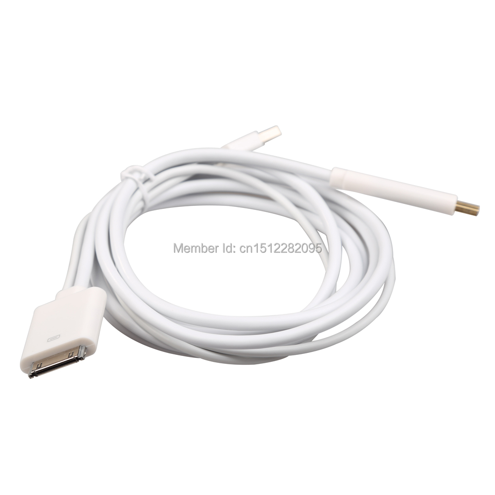 High Quality Dock to HDMI Cable with USB Charger for iPhone 4 4S iPad 1 2 3 iTouch 4th E2shopping(China (Mainland))
