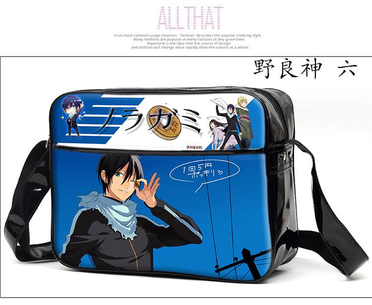 Noragami Yato Cosplay Bag Anime Fashion Women Men PU School Messenger Bags