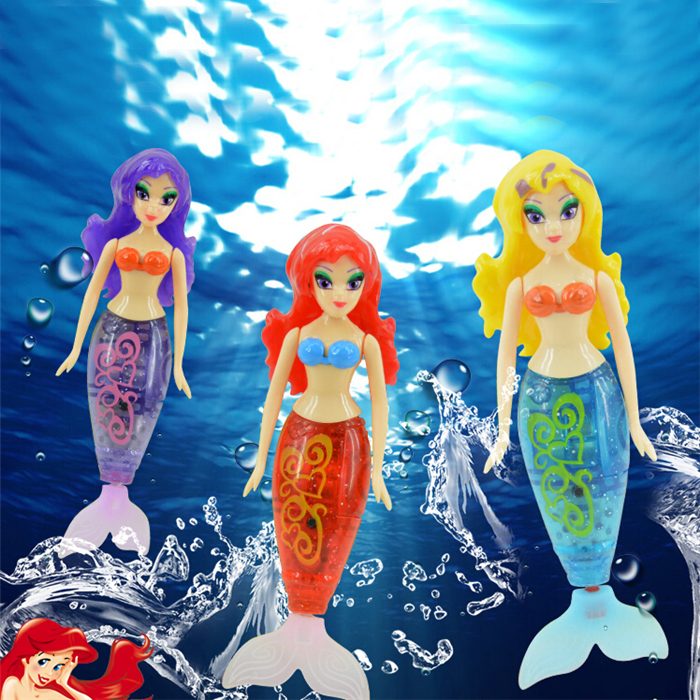 LED Light Beautiful Mermaid Electronic Fish Robofish Activated Battery Powered Robo Fish Toy Childen Robotic Pet Holiday Gift(China (Mainland))