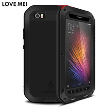 Buy LOVEMEI Shockproof Case Xiaomi Mi5 Mi 5 M5 Aluminum Silicone Hybrid Cover Mi5 Extreme Protection Drop proof Glass Shell for $19.99 in AliExpress store