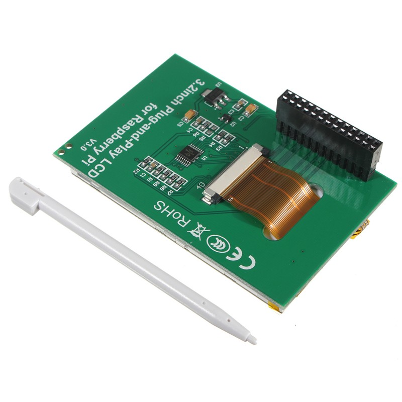 """2016 Electronic Circuit Board 3.2"""" TFT LCD Module Screen Display Monitor For Raspberry Pi B+ B A+ Board New Electric Unit(China (Mainland))"""