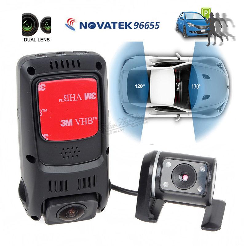 Free Sihipping! B40S Plus Dual Lens Capacitor HD 1080p Rotatable Car Dash Camera WDR G-sensor<br><br>Aliexpress