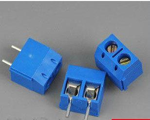 "100PCS KF301-5.0-2P KF301 ""- ""Screw 2Pin 5.0mm Straight Pin PCB Screw Terminal Block Connector(China (Mainland))"