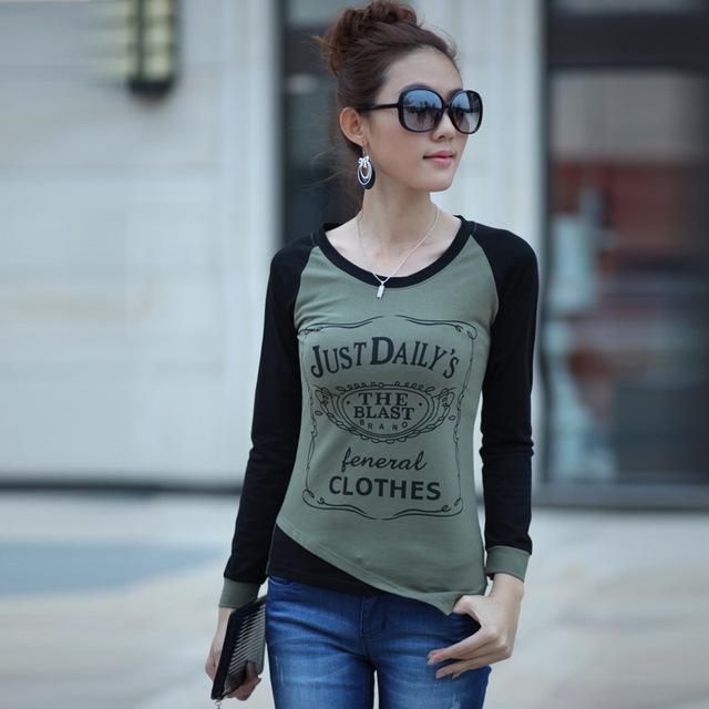Women T Shirt 2016 New Summer Fashion Letter Print Casual Slim T-Shirt O-neck Basic Tops Plus Size Women T-Shirt