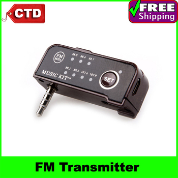 Factory Cheap Price!FM Car Kit+Music,Car Charger,FM Transmitter for iPhone 3G 3GS 4 4S/Android Smartphone