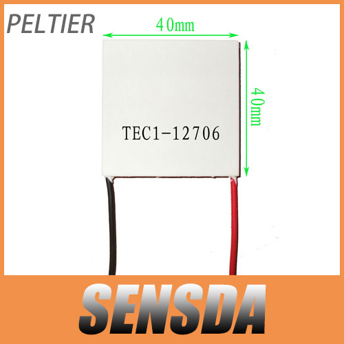 Wholesale!2pcs TEC Peltier Module TEC1-12706 40mmx40mm Thermoelectric Cooler Cooling Plate 12V(China (Mainland))