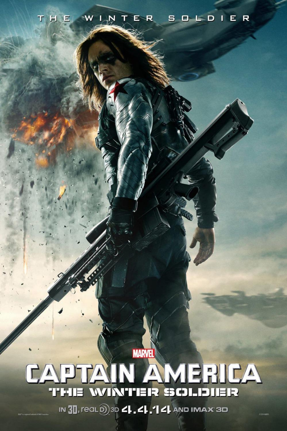 0730 40x60cm Captain America 2 2014 Winter Soldier USA Hero Hot Movie Poster - wall sticker Home Decor poster