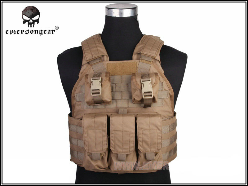 Emersongear SPC Tactical Vest Emerson Airsoft Painball Military Equipment Hunting Vest 500D Nylon Molle Combat Gear EM2887 CB ^