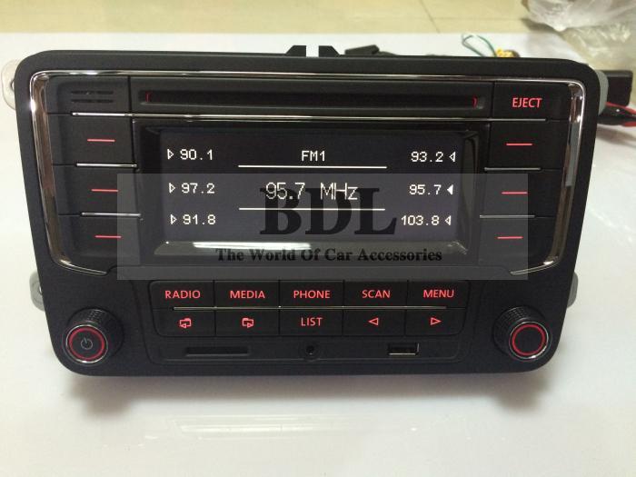 VW OEM Original Car Radio RCN210 Support CD MP3 USB SD AUX With Bluetooth Function For Passat B6 Polo Golf Jetta MK5 MK6 Tiguan(China (Mainland))
