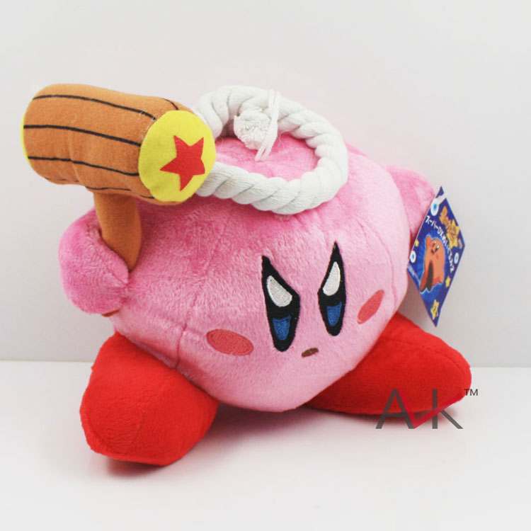 """Kirby with hammer plush doll toys 5""""12cm Free Shipping 50pcs EMS(China (Mainland))"""