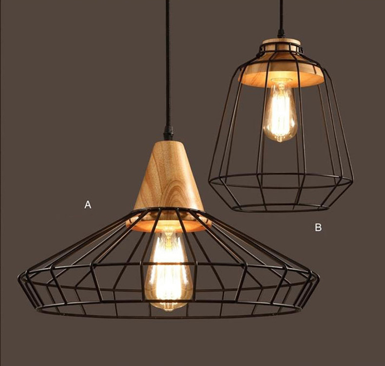 loft industriel vintage pendant lights bar cuisine. Black Bedroom Furniture Sets. Home Design Ideas