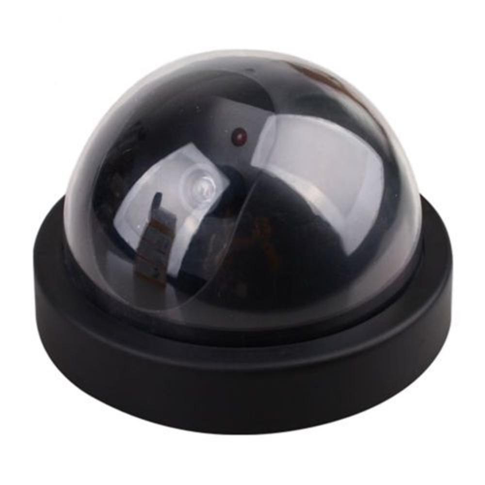 free shjpping Dummy Fake Surveillance CCTV Security Dome Camera w/ Flashing Red LED Light(China (Mainland))