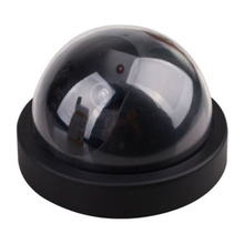 free shjpping Dummy Fake Surveillance CCTV Security Dome Camera w/ Flashing Red LED Light