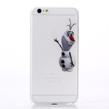 Lovely Snow Man Olaf Transparent Matte Mobile Phone Cover Cases For iPhone 4 4G 4S 5 5G 5S 5C 6 6G 6S 4.7 6plus 5.5 Inch