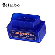 car-detector  ELM327  OBD V2.1 mini Bluetooth Auto Scanner  OBDII 2  Car ELM 327 Tester Diagnostic Tool for Android Windows New(China (Mainland))