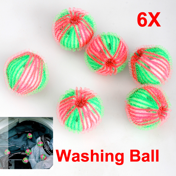 Free Shipping new 6x Washing Laundry Eco Friendly Anion Molecules Released Washing Ball Clothes hv(China (Mainland))