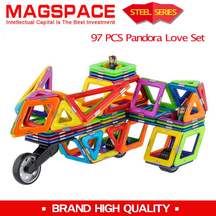 MAGSPACE 97pcs New Generation Stain Steel Magnetic Construction Set Building Blocks TOYS(China (Mainland))
