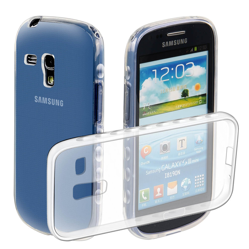 New Luxury transparent TPU Cases for Samsung GALAXY SIII S3 i9300 shockproof Cover for Samsung GALAXY SIII Mini S3 mini I8190N(China (Mainland))