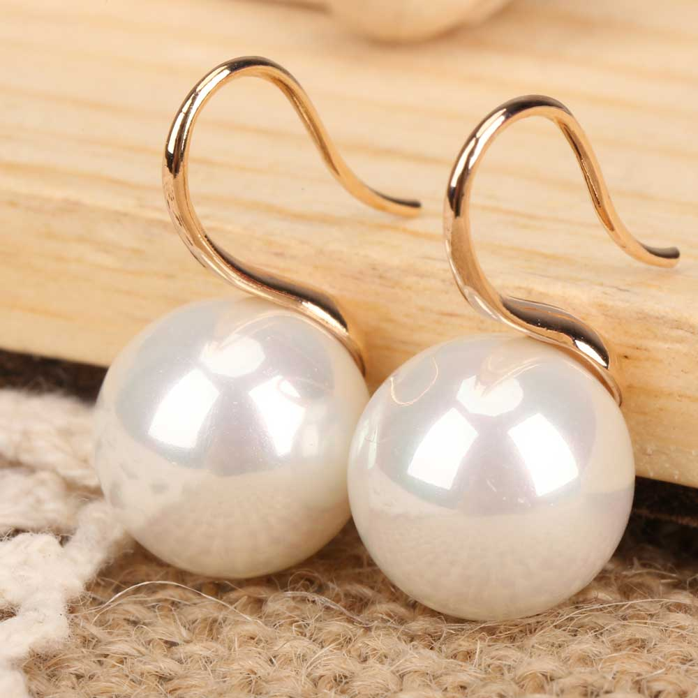 Pair of Artificial Pearls Earrings Ear Nails Eardrop Ear Drop Earbob BS88(China (Mainland))